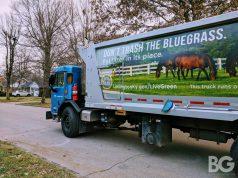 trash waste: garbage truck