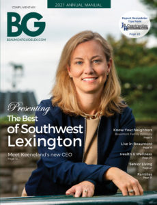 Beaumont Guide 2021 Cover of Keeneland's Shannon Bishop Arvin